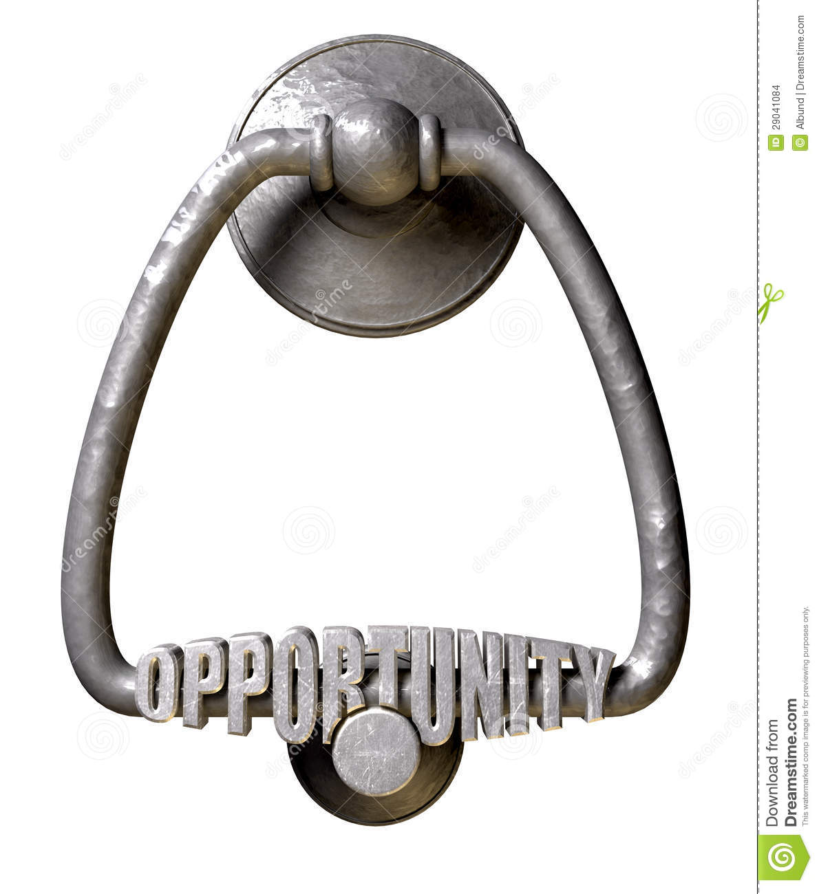 Opportunity Knocks Door Knocker Stock Images Image 29041084.