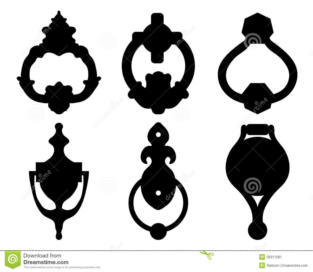 Clipart door knocker.