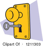 Door lock clip art.