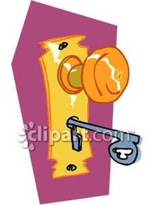 Free clipart door key.
