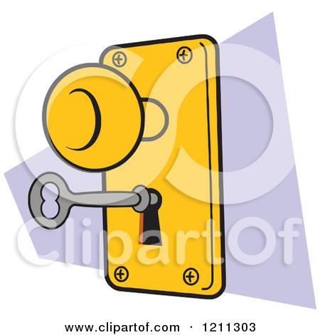 Key to locked door clipart.