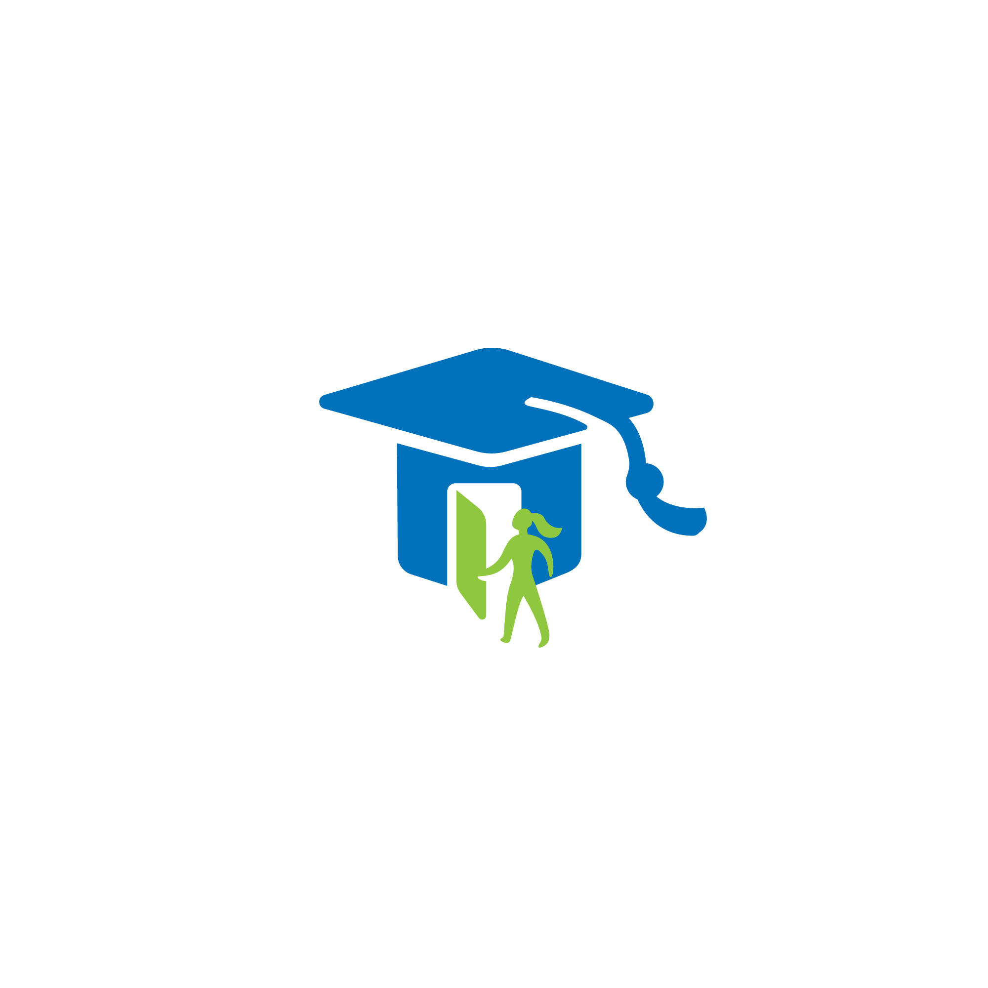 For Sale—eduvest Grad Hat Door Logo.