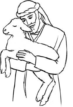 Shepherd sheep clipart.
