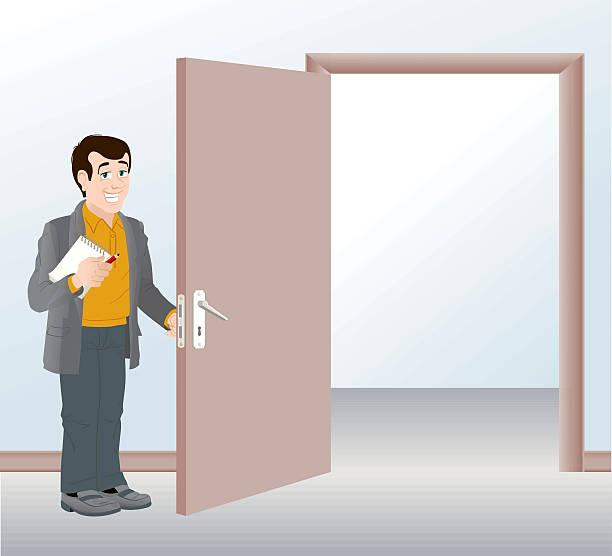 Best Holding Door Open Illustrations, Royalty.