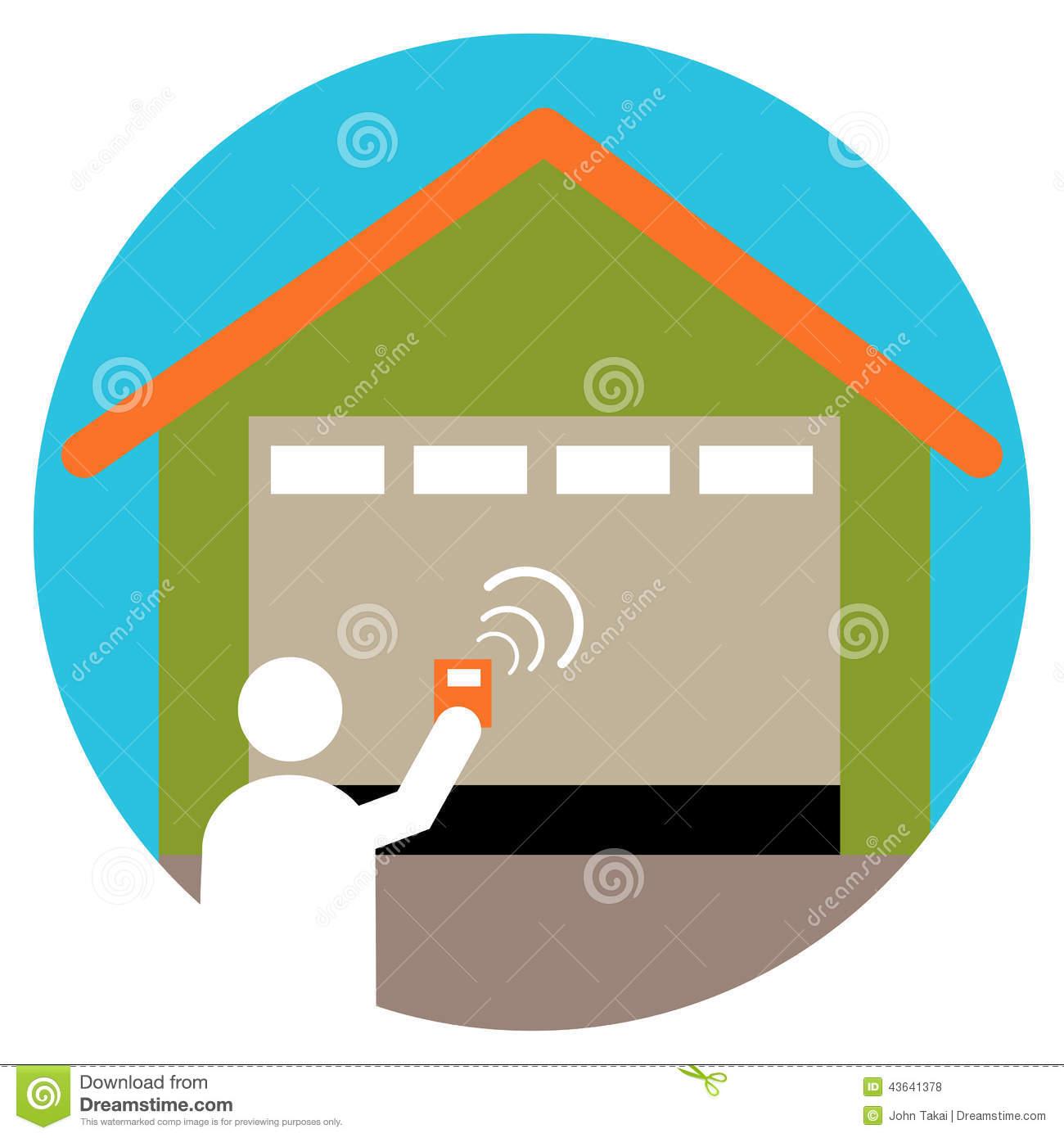 Garage Door Opener Stock Vector.