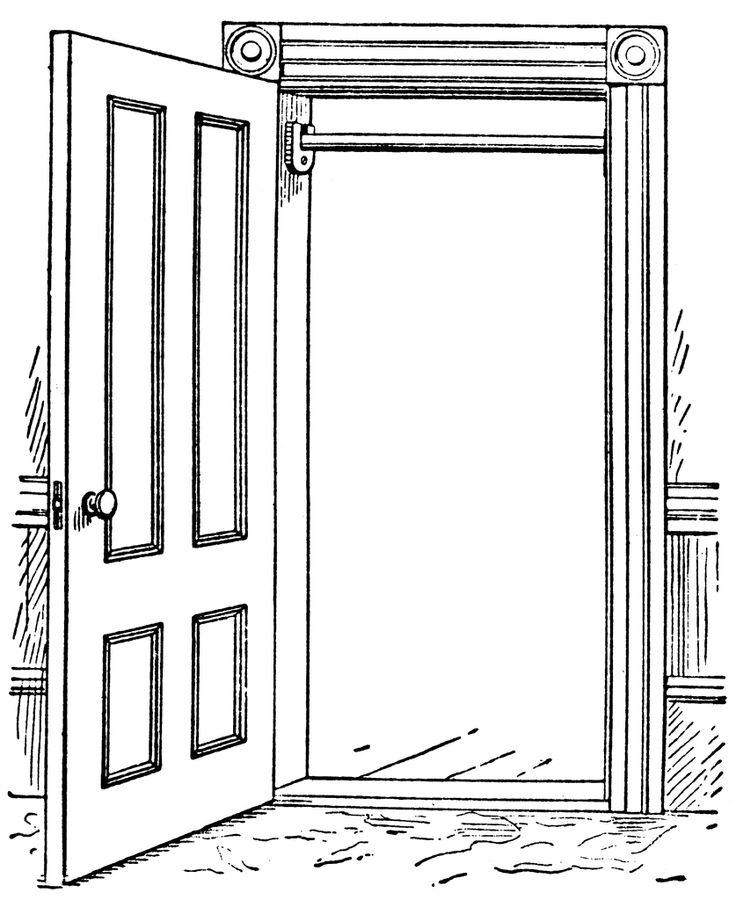 Door with horizontal bar clipart etc diy clip art.