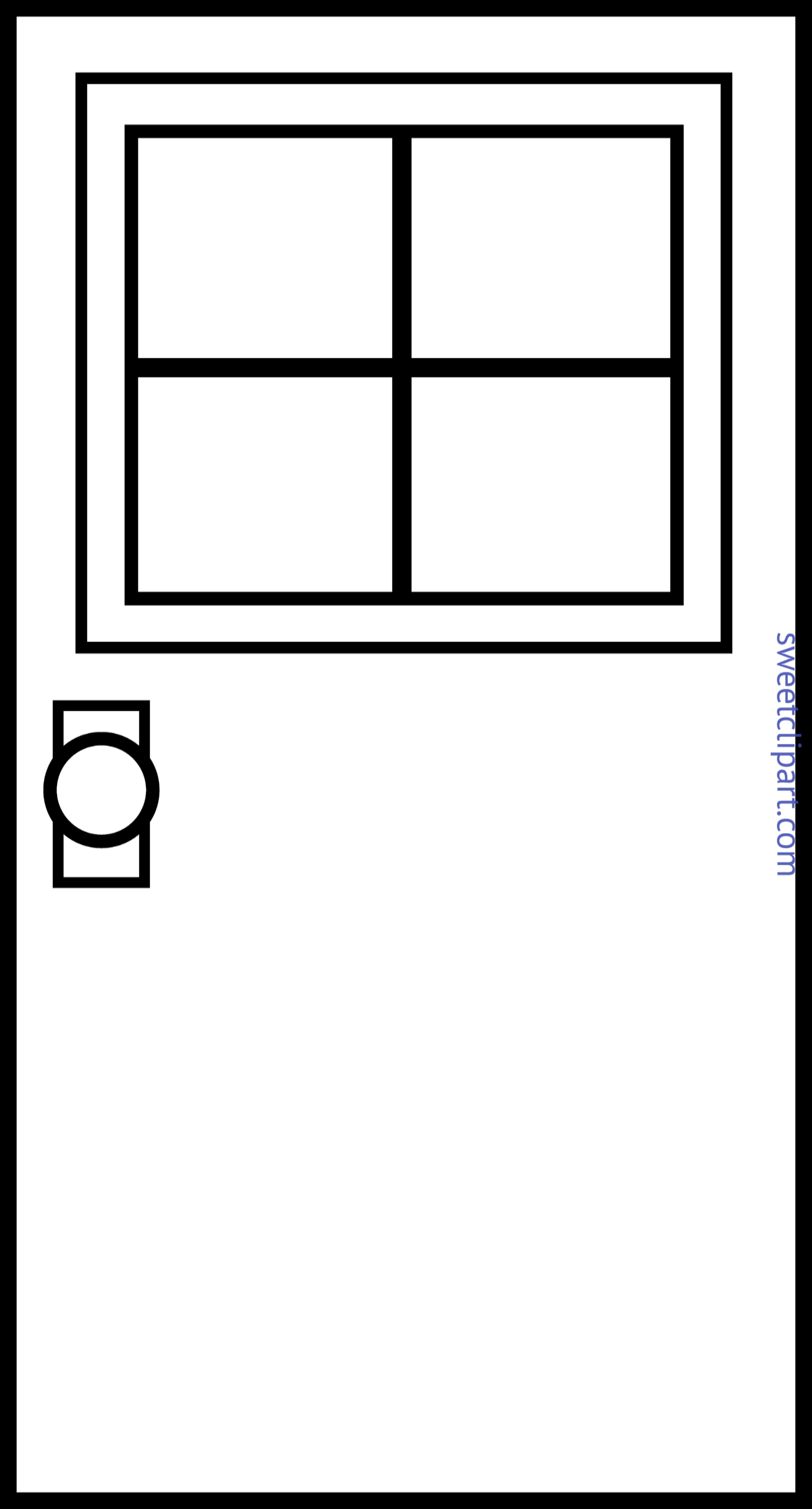 Door Lineart Clip Art.