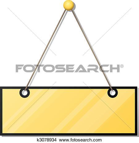 Clipart of blank doorplate k3078934.