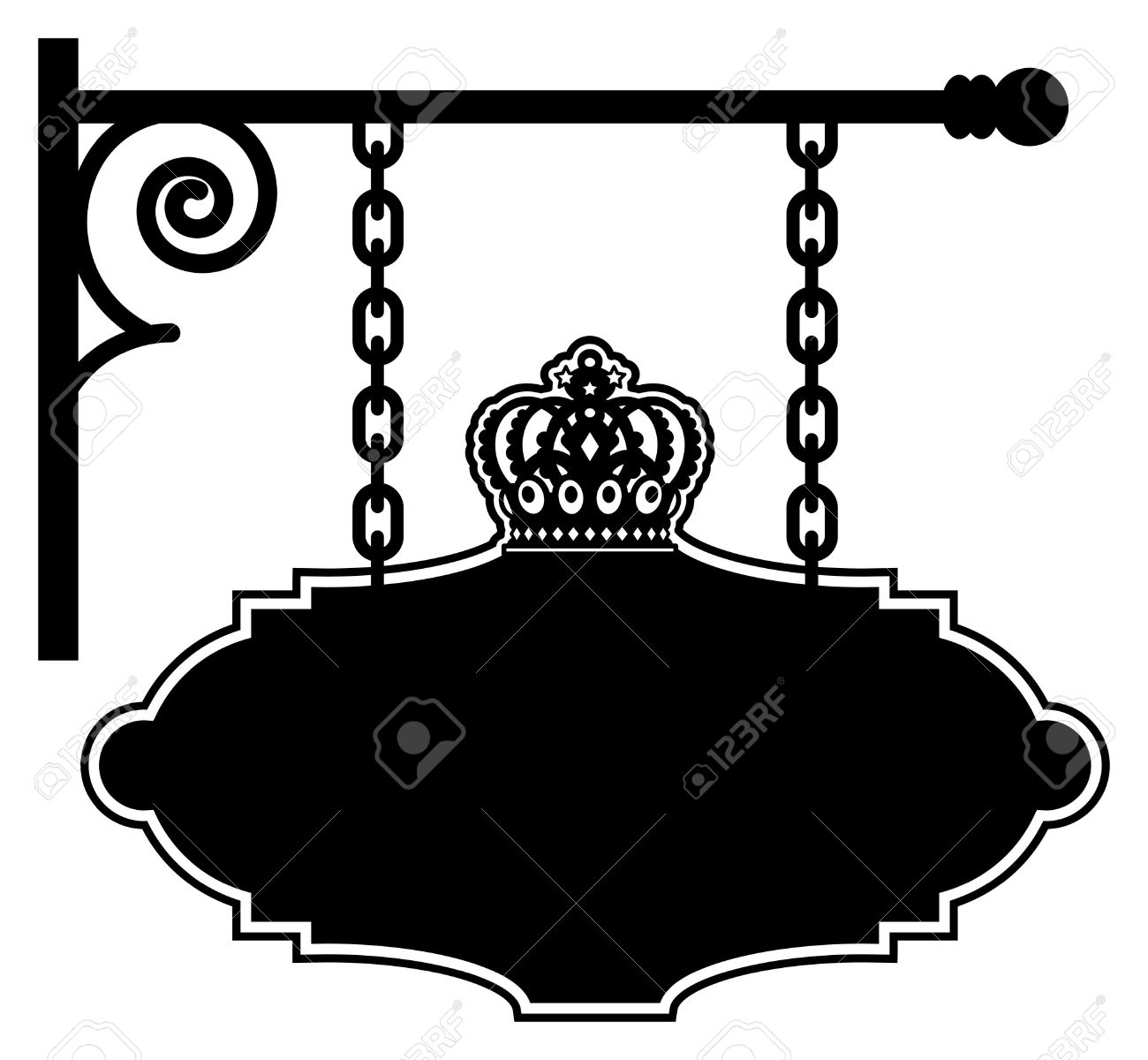 Blank Restaurant Or Hotel Sign Royalty Free Cliparts Vectors And