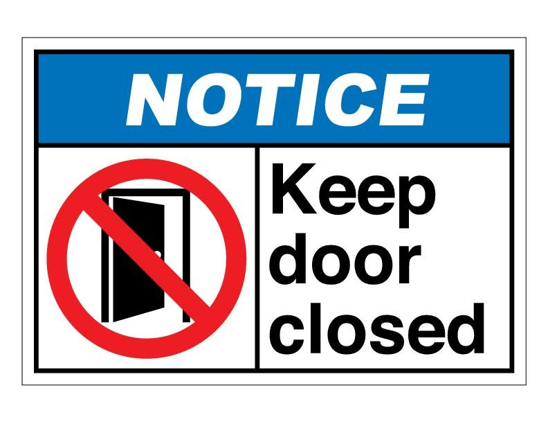 Close Door Sign Clipart.