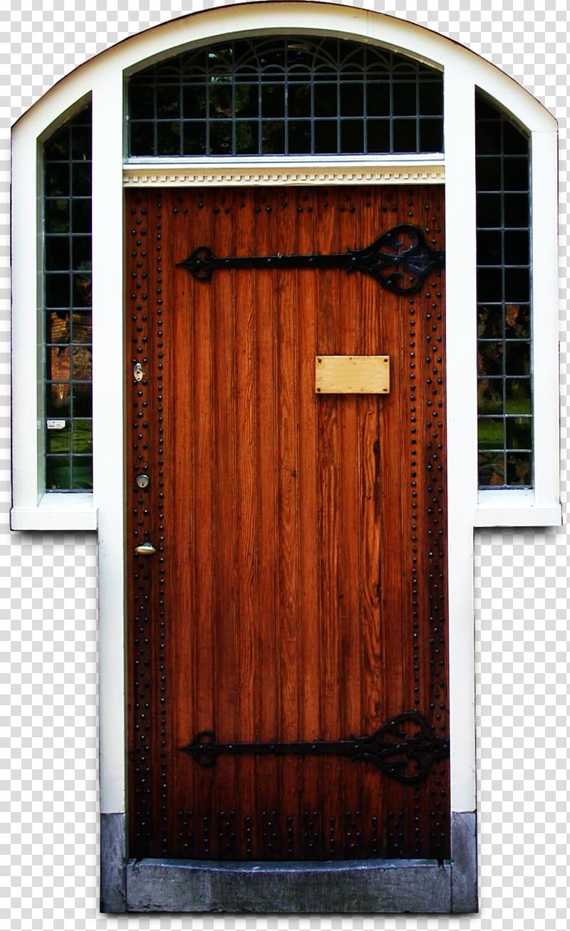 Misc door texture, closed brown wooden door transparent.