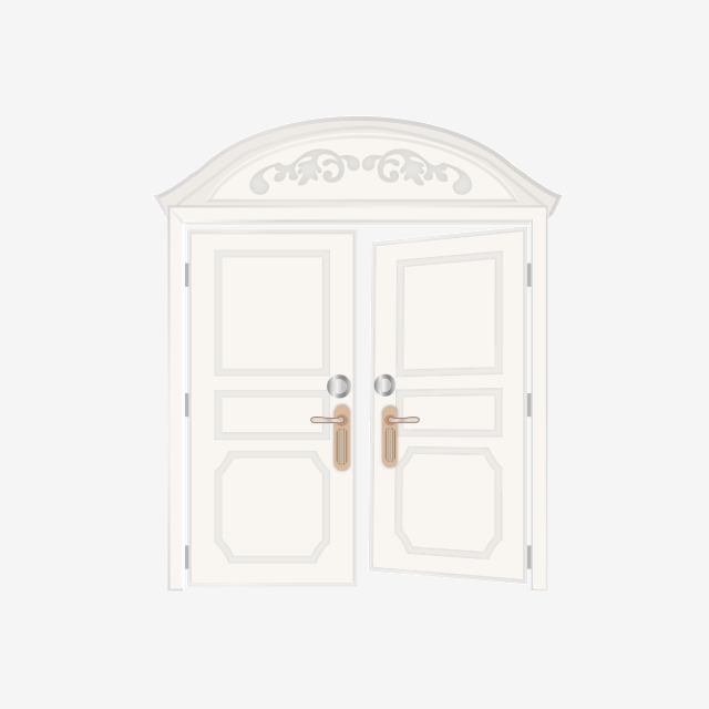 Cartoon Minimalistic Texture Wooden Door Element, Hand Drawn.