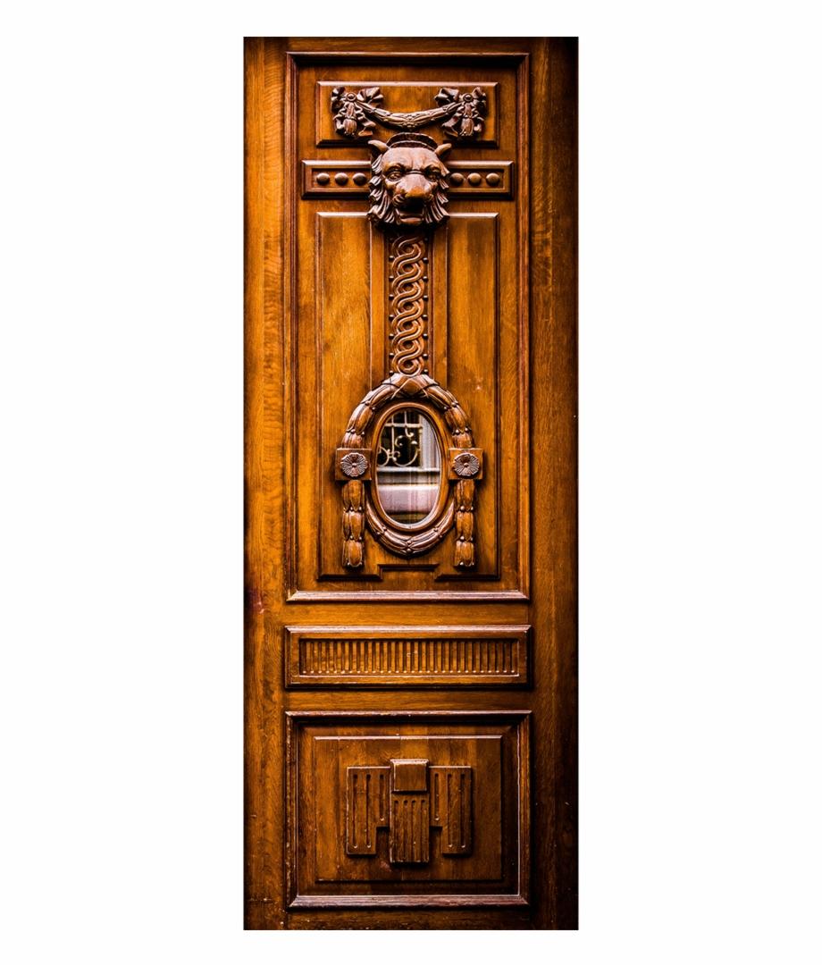 Vintage Wooden Carved Door Mural Wall Mural Textures.