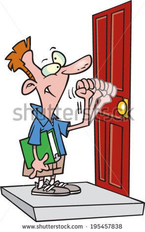 Door To Door Salesman Stock Images, Royalty.