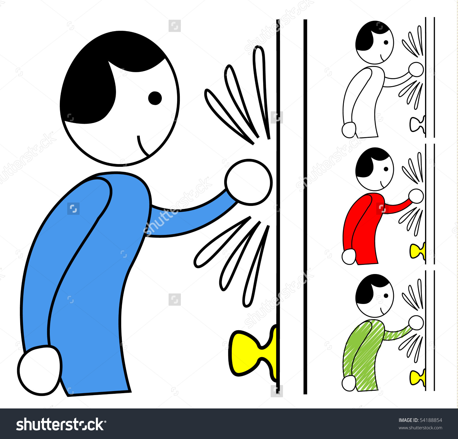 Person Knocking Door Stock Vector 54188854.