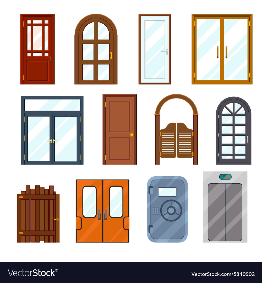 Colourful front doors.