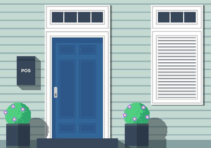Front Doors Vector.