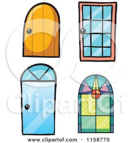 Door and window clipart.