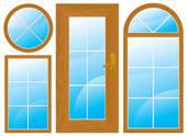 Clip Art of windows and door k8925548.