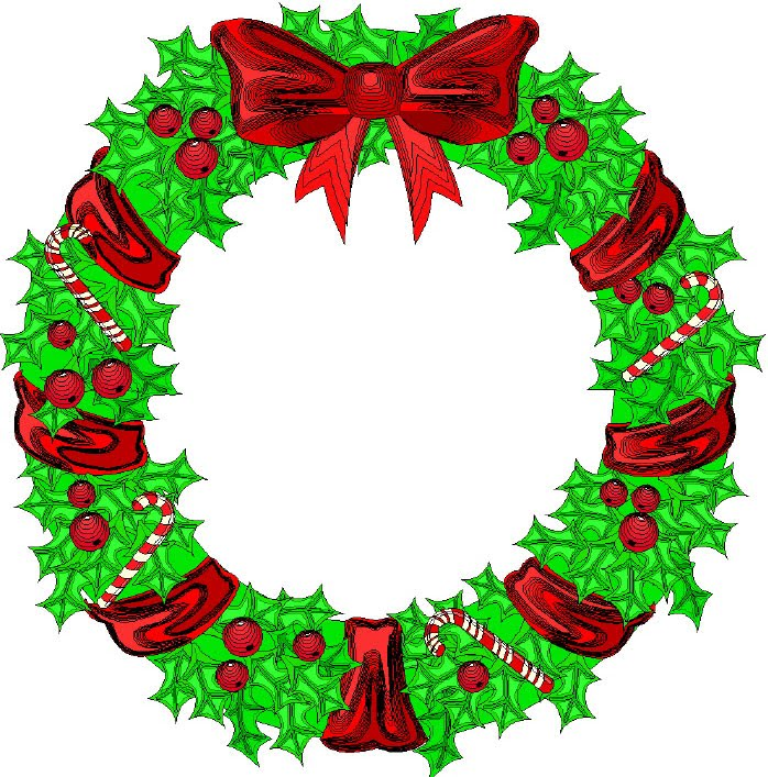 Christmas Wreath Clip Art & Christmas Wreath Clip Art Clip Art.