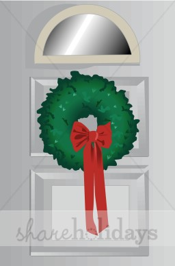 Christmas Door Clipart.