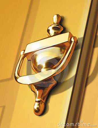 Door Knocker Stock Illustrations.