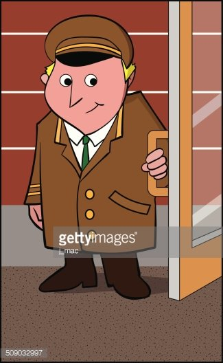 Doorman premium clipart.