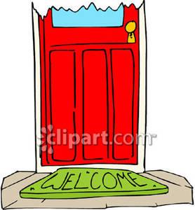 Welcome mat clipart.