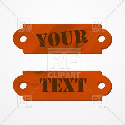 Textured wooden doorplate (placard) Vector Image #111174.
