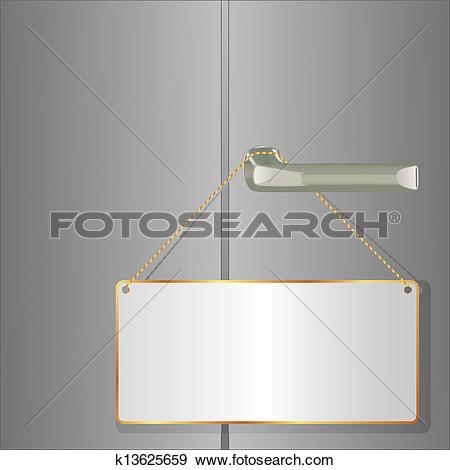 Clip Art of door plate k13625659.