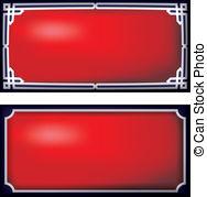 Vector Clip Art of door plates blanco.
