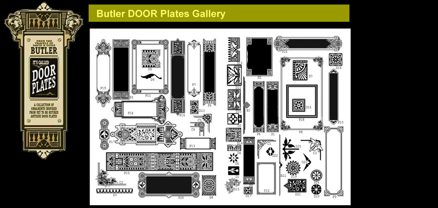 Mainstreet Door Plates clip art.