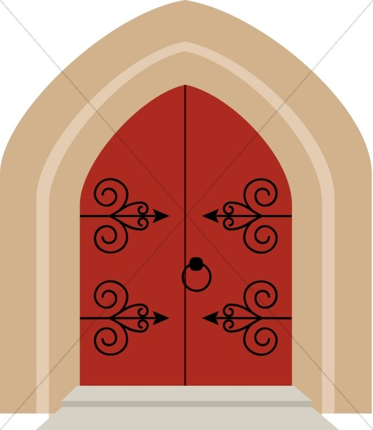 Cathedral Style Church Doors.