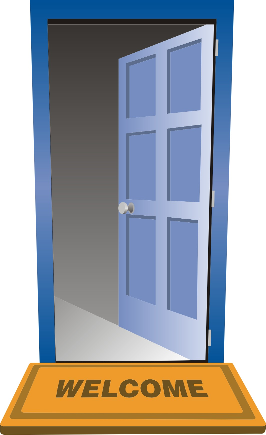 Open door policy clipart.