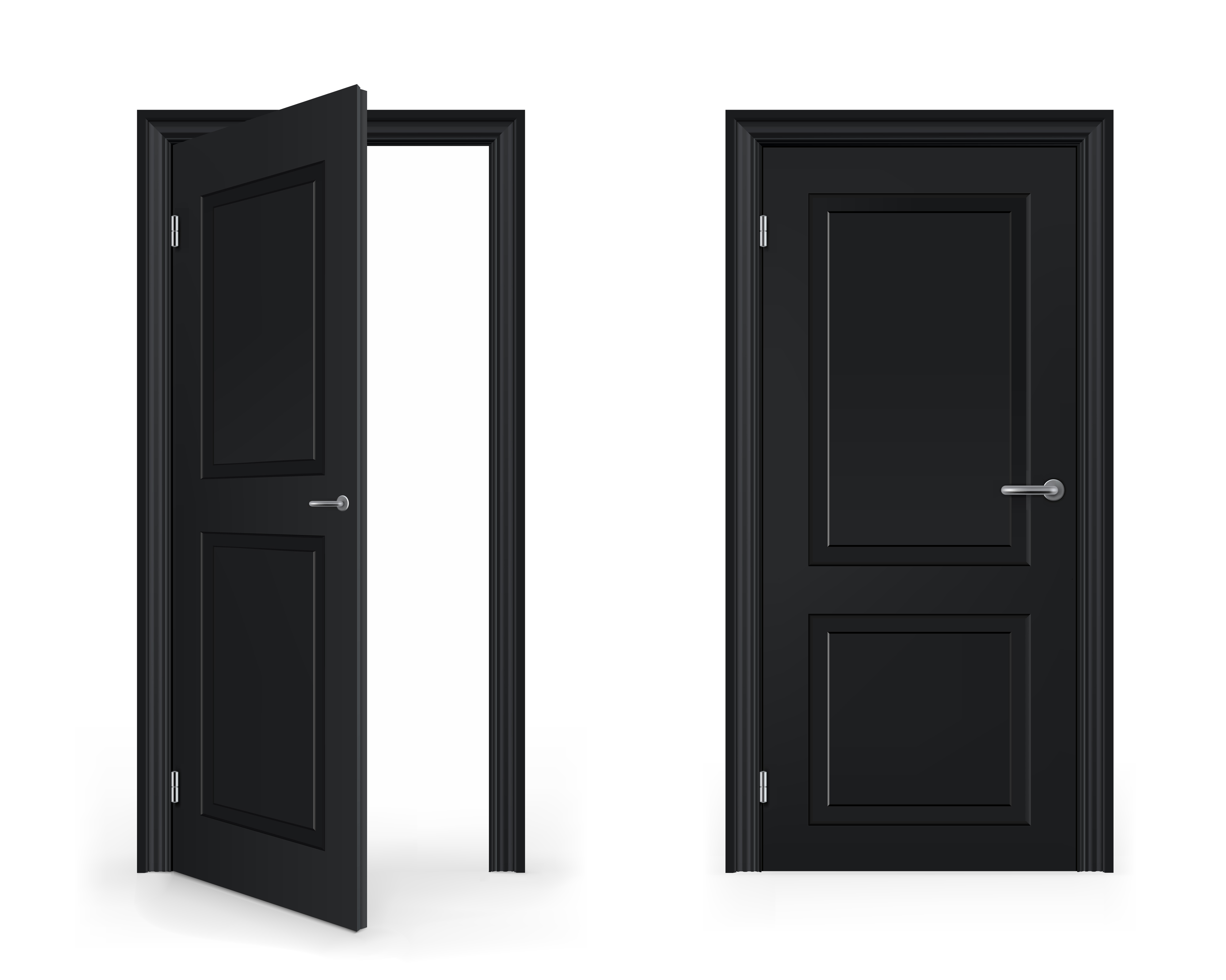 Open doorway of communication clipart.