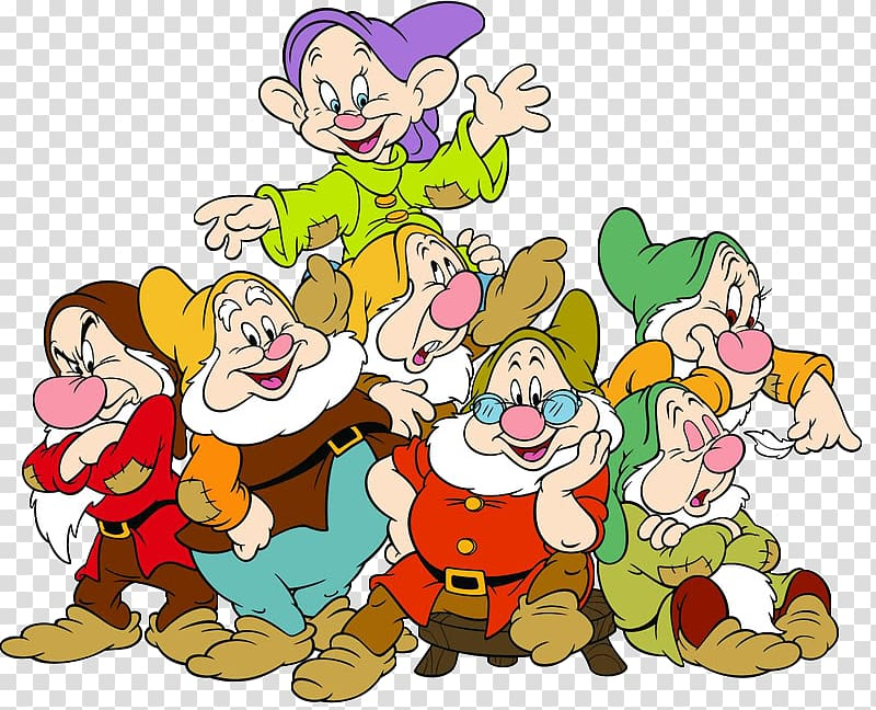 Seven Dwarfs Grumpy Bashful Sneezy Dopey, seven dwarfs transparent.