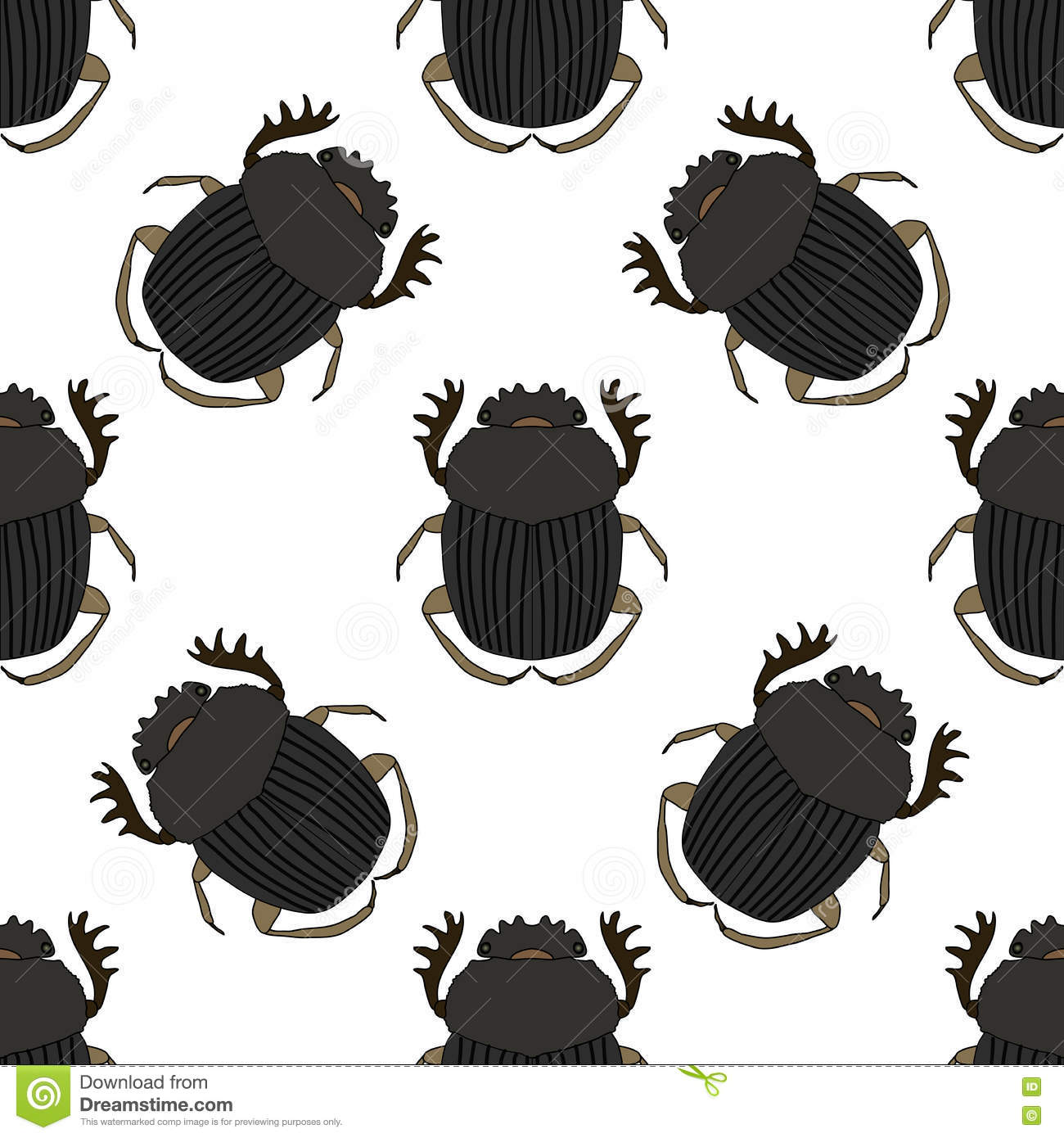 Seamless Pattern With Dor.
