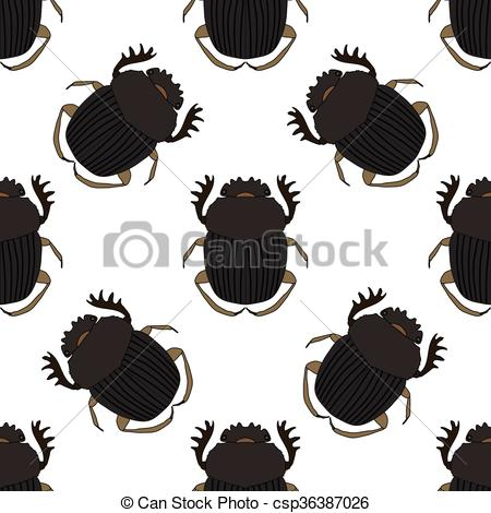 Vector Illustration of Seamless pattern with dor.