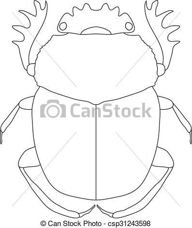 EPS Vectors of scarab. Geotrupidae dor.