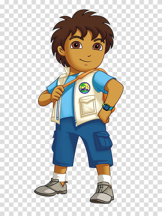 Dora The Explorer, Diego illustration transparent background.