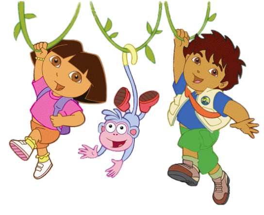 Check out this transparent Dora Diego and Boots in the.