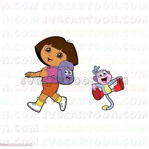 Dora and Boots backpack Dora the Explorer svg dxf eps pdf png.