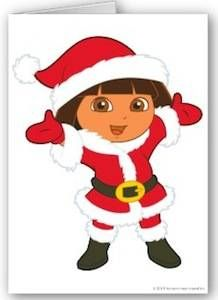 Dora The Explorer Christmas Card.