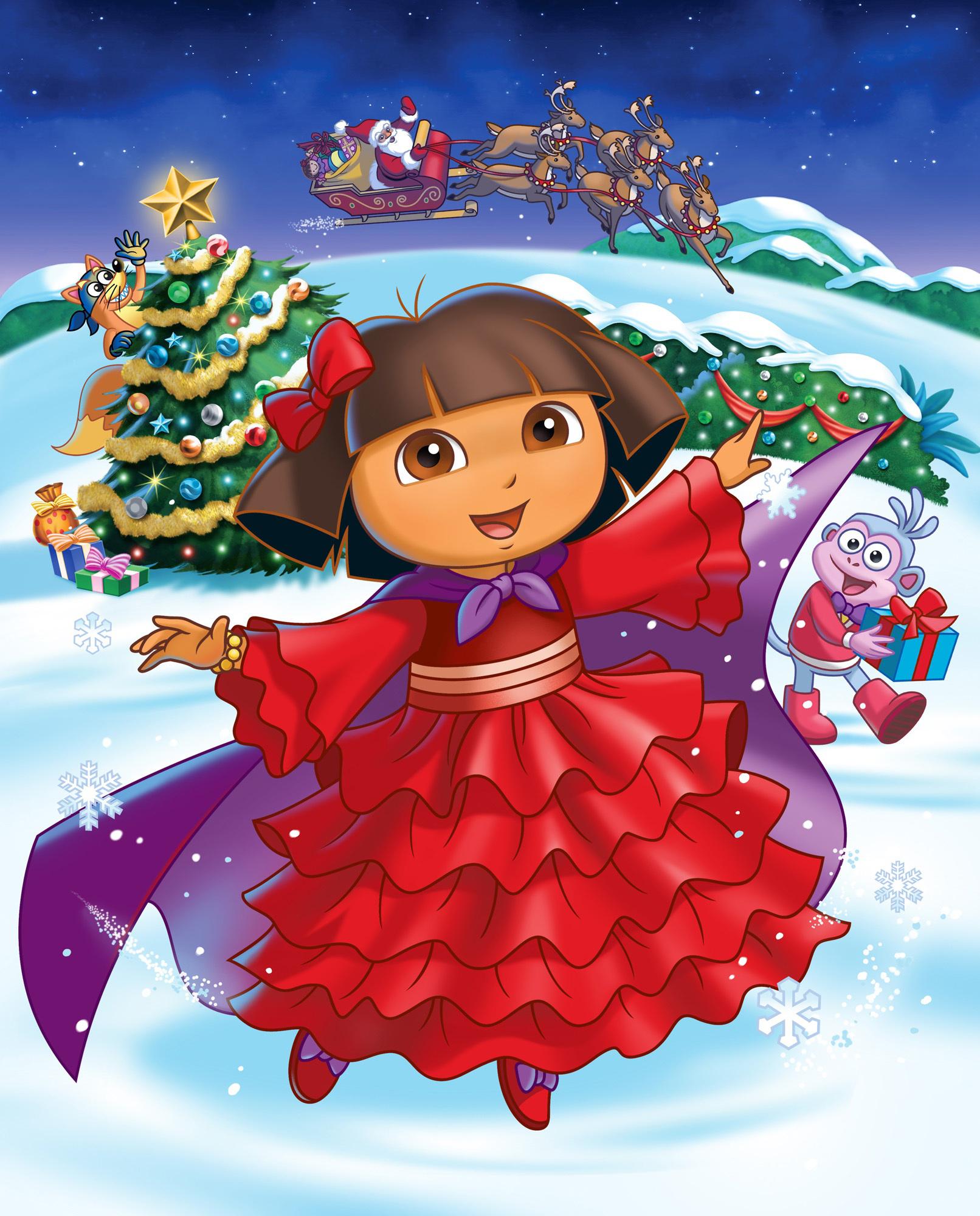 Dora christmas clipart.