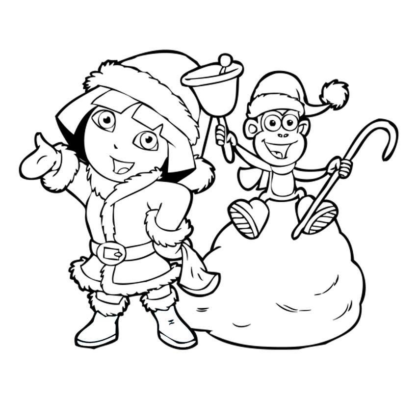 Free Dora Christmas Coloring Pages, Download Free Clip Art.