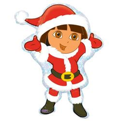 Free Printable Dora Christmas Ornaments.