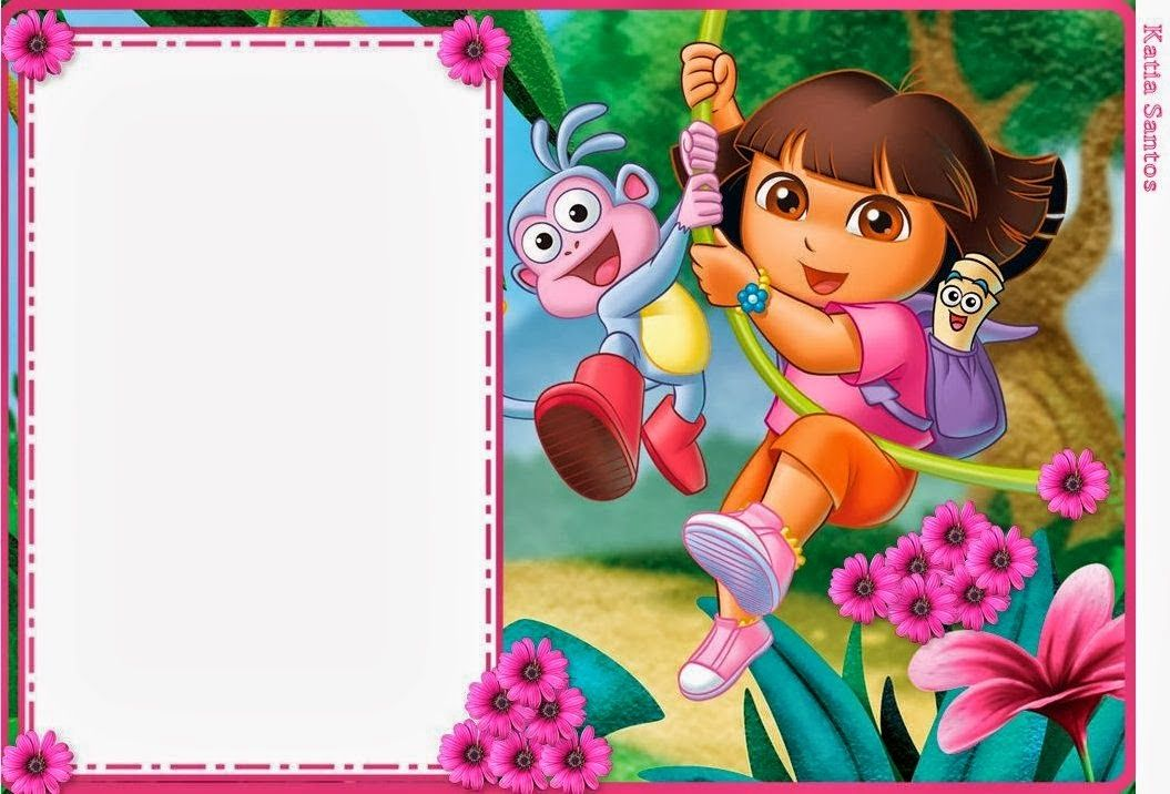 Dora the Explorer: Free Printable Invitations and Party.