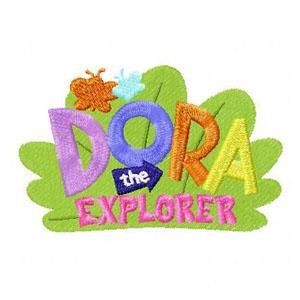 Dora the Explorer Logo embroidery design.