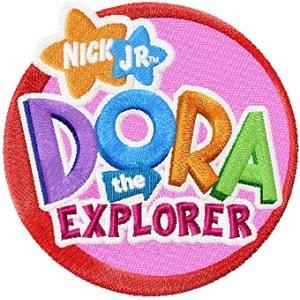 Nick Jr. Logo Dora the Explorer Iron on Patch.