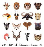 Dorcas gazelle Clip Art Illustrations. 6 dorcas gazelle clipart.